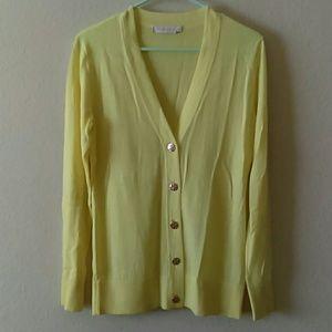 Tory Burch cardigan yellow